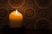 Candlelight At Vintage Wallpaper