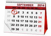 Calendar for September 1