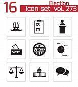 Vector black electiion icons set