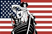 American Revolutionary Leader At Helm