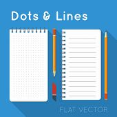 Flat elements: notepads