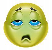 Emoticon Sick