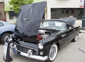 1955 Black Ford Thunderbird