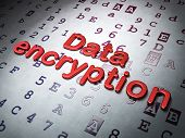 Safety concept:  Data Encryption on Hexadecimal Code background