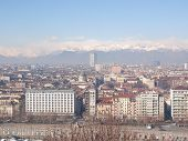 picture of turin  - Turin skyline panorama seen from the hills surrounding the city - JPG