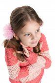 Portrait Of A Shy Preschool Girl