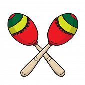 stock photo of maracas  - maracas cartoon doodle - JPG
