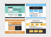 Abstract Flat Website Set