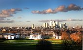 picture of canary  - view of Greenwich park and Canary Wharf business aria on the back - JPG