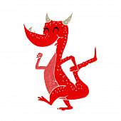 cartoon happy dragon