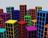 Colorful city blocks