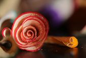 Red and Yellow Pencil Shavings Spiral