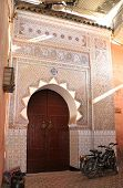 A door in Marrakesh streets