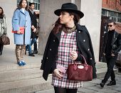 People Outside The Fashion Shows Buildings For Milan Women's Fashion Week 2014