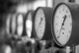 image of manometer  - Manometers in the boiler - JPG