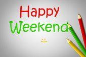 Happy Weekend Blackboard