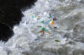 Plastic Bottles In The Tiber River