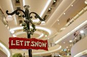 Christmas Signboard Let It Snow