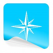 compass blue sticker icon