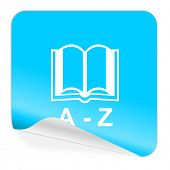 dictionary blue sticker icon