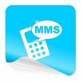 mms blue sticker icon