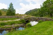 Packhorse bridge Watendlath Tarn Lake District Cumbria England