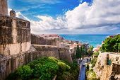 The Outer Walls Of The Old City Of Dubrovnik