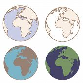 Earth in vintage colors
