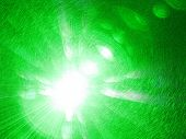Green Laser Pointer in Camera Lens