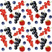 Seamless background with berries