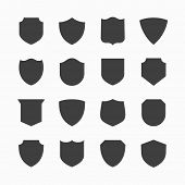 Shield icons. Vector.