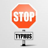detailed illustration of a red stop typhus sign, eps10 vector