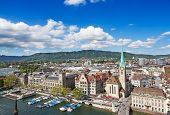 View of the Zurich donwtown (Switzerland, 2009)