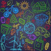 Doodles eco icon set