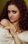 Young Arabian woman in sari