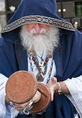 Fortune Teller Looking Hour Glass