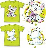 Kid Shirt With Cute Mouse Printed