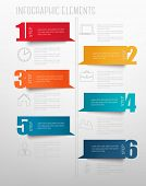 Info graphics banners with numbers and letters. Retro design template. Vector illustration