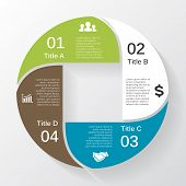 Vector circle diagram infographic for business presentation