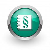 law green glossy web icon