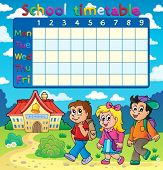 School timetable composition 5 - eps10 vector illustration.