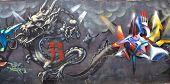 Street art Montreal dragon