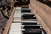 Weathered Piano Keyboard