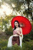 Thai women in national costume