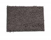 Gray microfiber doormat