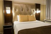 New York - DECEMBER 20: Room in New Yorker Hotel on December 20, 2014 in New York, USA. New Yorker Hotel is one of the oldest hotels in New York
