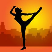 Dancing Posing Represents Yoga Pose And Spirituality