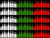 Drink Wine Represents National Flag And Bottle
