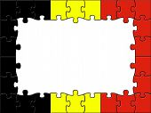 Belgium Jigsaw Means Blank Space And Copy