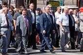 Communist Party Headed By Simonenkov On Parade In Kiev, Ukraine